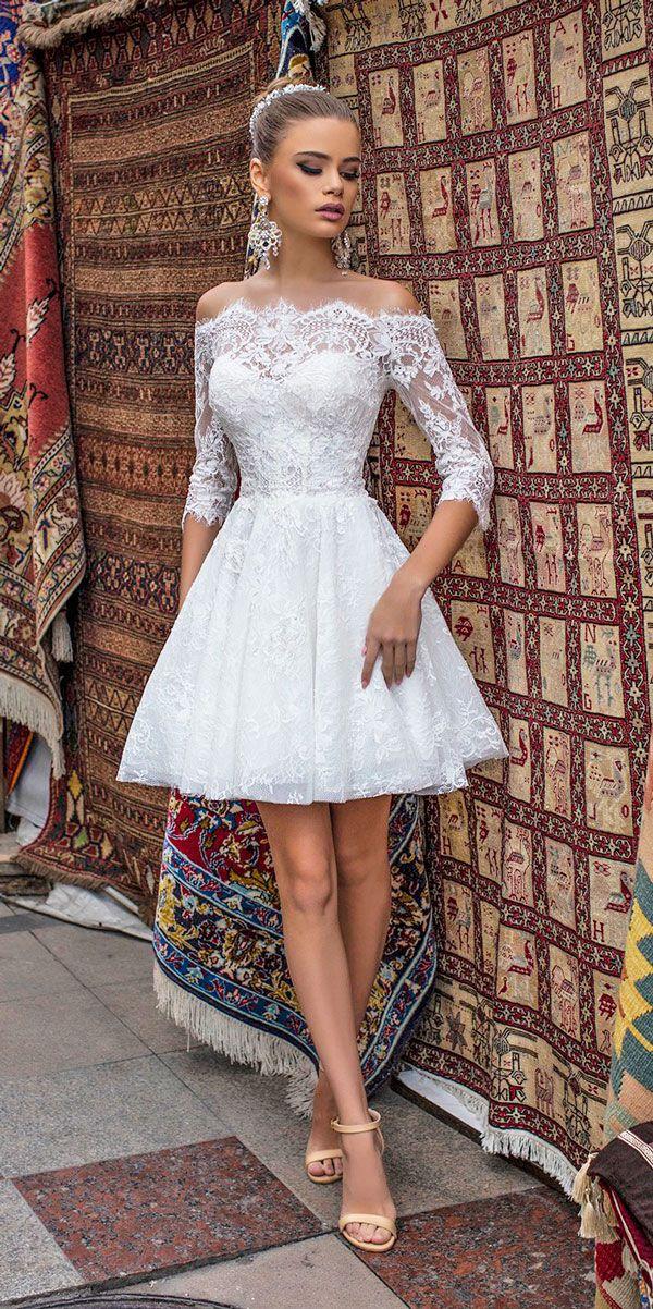 27 Amazing Short Wedding Dresses For Brides Wedding Forward Short Lace Wedding Dress Civil Wedding Dresses Short Wedding Dress