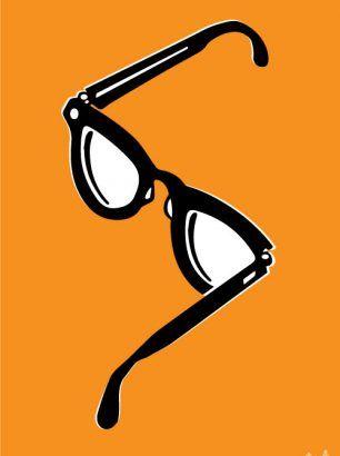 """""""Briller"""" - Størrelse: 70cm x 100cm / A3"""