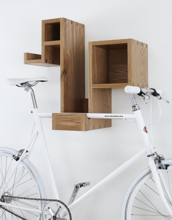 Dave to replicate this storage and bike rack, original by Tamasine Osher