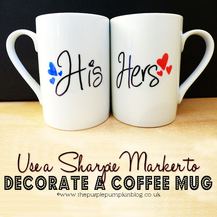 use a sharpie marker to decorate a coffee mug - Cup Design Ideas