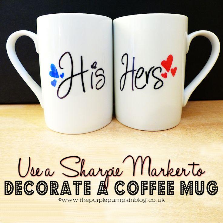 Use a Sharpie Marker to Decorate a Coffee Mug