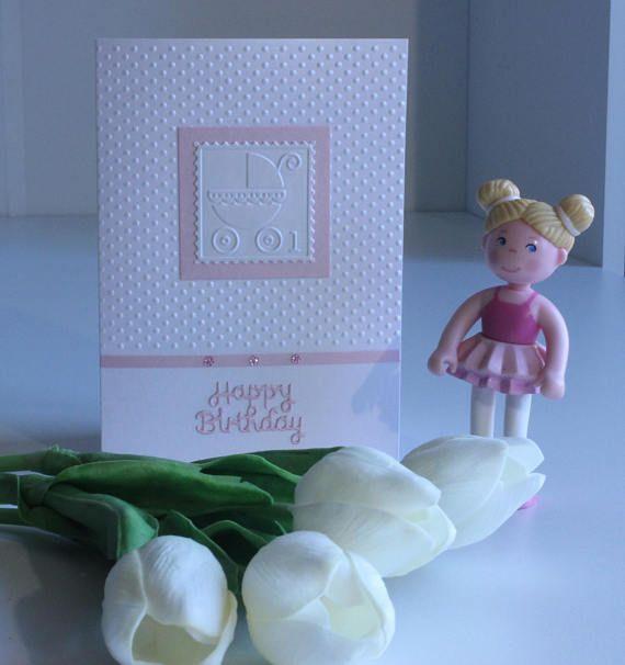 Happy Birthday One Card for Girl Handmade card Greeting