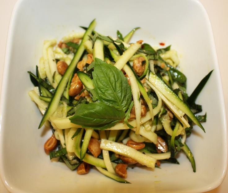 Thrive Forward Recipe Shaved Zucchini & Sacha Inchi Salad #ThriveFwd