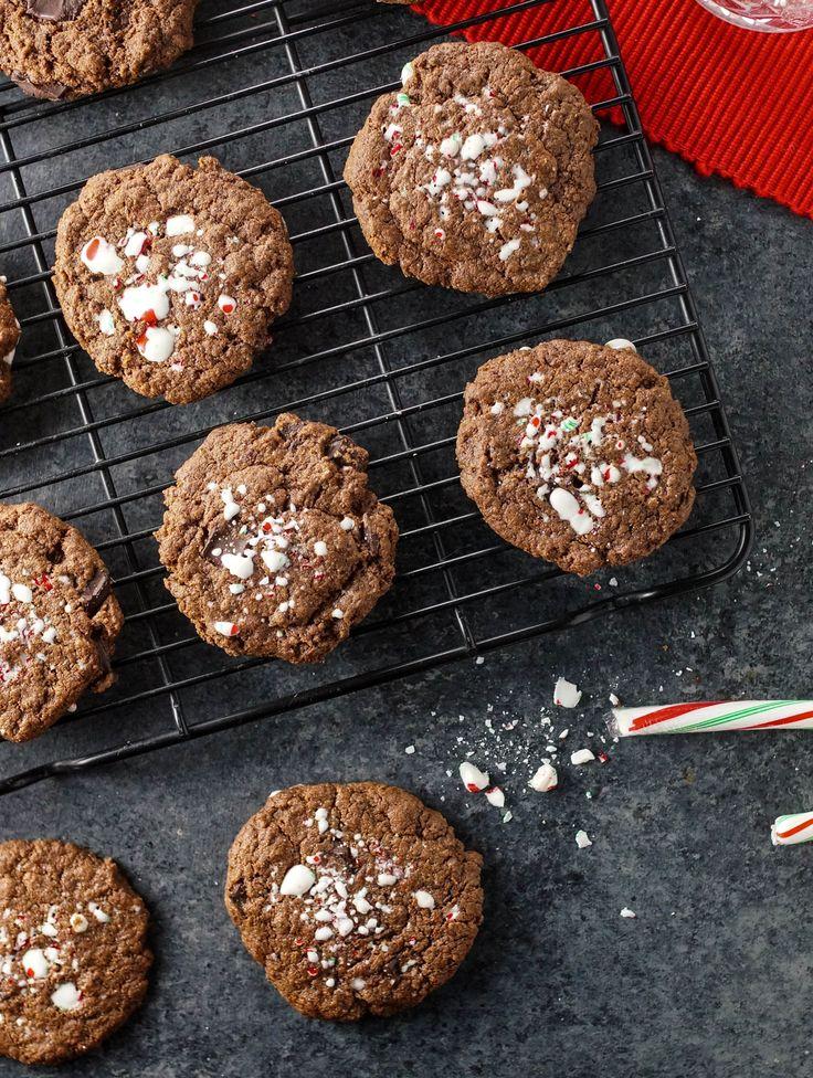 chocolate crinkle cookies chocolate crinkles mint cookies cookies ...