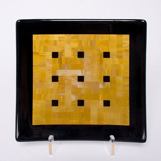 Kiln formed glass plate by James Lavoie (Edmonton, AB). Member of the Alberta Craft Council.