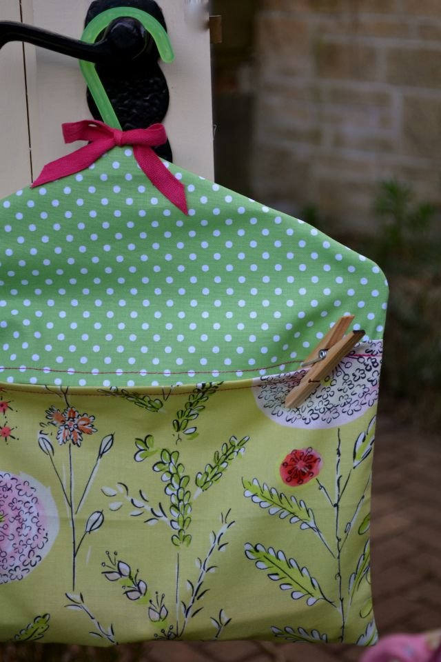 how to make a peg bag - tutorial