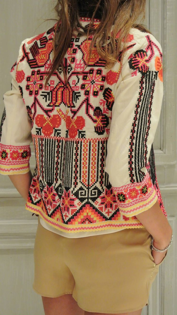 summery embroidered jacket