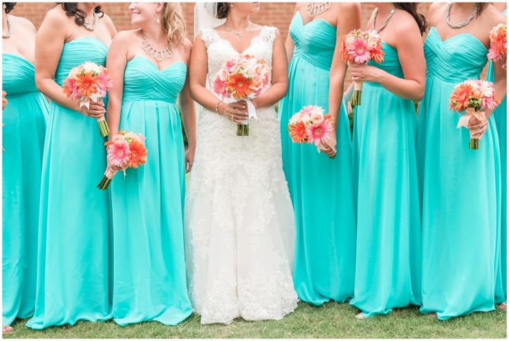 tiffany blue bridesmaids dresses fords colony country club williamsburg virginia tiffany blue and coral weding photographer