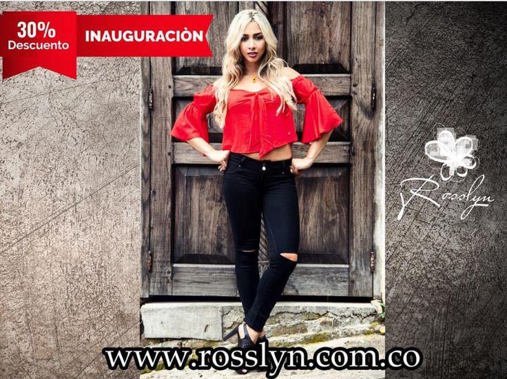 Nuestra tienda Online www.rosslyn.com.co está de lanzamiento nacional 💥😎y por la primera compra recibe el 30% de descuento 😱💃🏻 . . . . . . . . .#CaliCo #Jeans #Blusas #Mujer #MujeresRosslyn #Instafashion #fashion #Moda #Estilo #trendy #modafemenina #colombia #streetlook #casual #hechoencolombia #bogota #medellin #barranquilla #pasto #manizales #pereira #bucaramanga #cartagena #antioquia #valledelcauca #santader #summer #verano2017