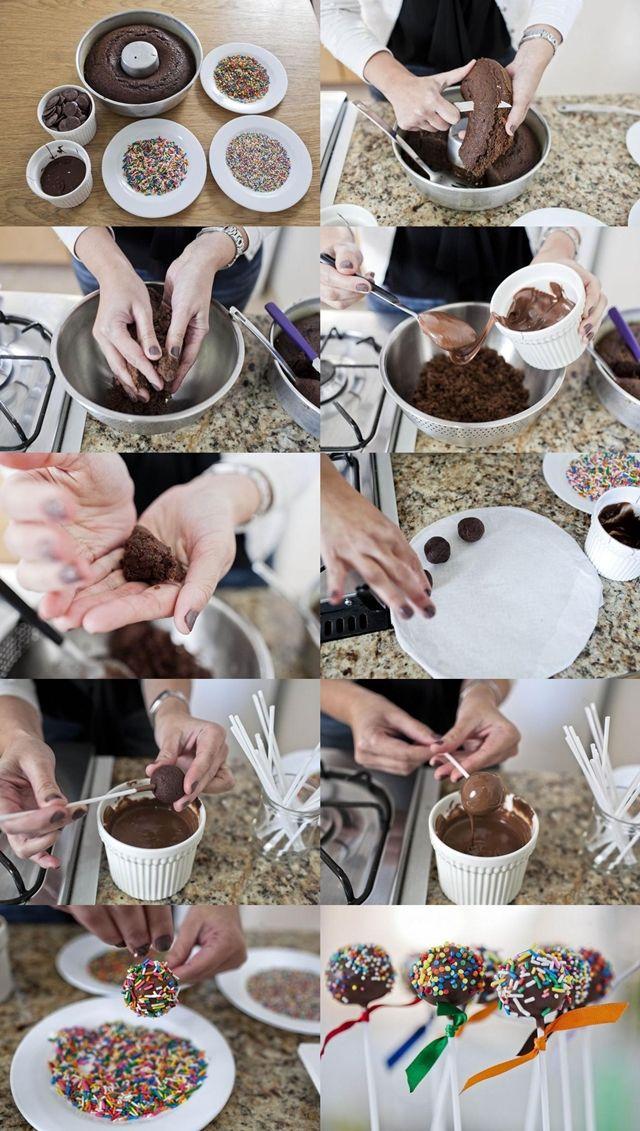 Bolinho no palito - como fazer cake pops_receita