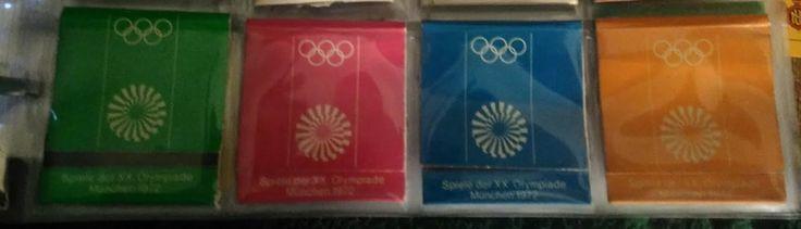 Olympia München 1972 Deutschland, Streichholzschachtel Sets of Deutschland, Streichholzschachtel]  Olympia Munich 1972 Germany, Matchbox Sets of Germany, Matchbox