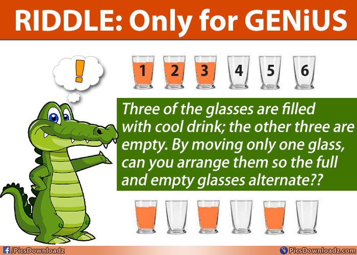 Three Glasses with Cool-Drink – Solve the Riddle Puzzles