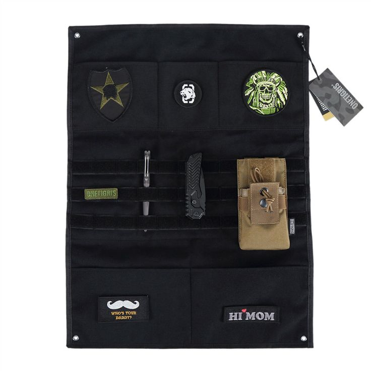 OneTigris Morale Patches Display Board Tactical Patches Holder Display Panel with MOLLE Webbing And Pockets