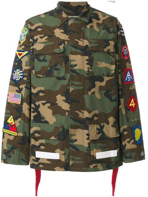 d09dce6e21b4 OFF-WHITE camouflage patch cargo jacket.  off-white  cloth  jacket ...