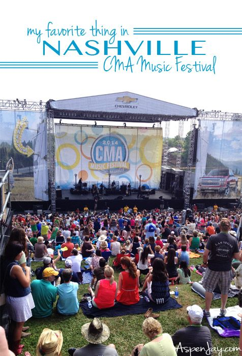 CMA Music Festival in Nashville, TN the first part of June. Concerts EVERYWHERE! I need to put this on my bucket list!