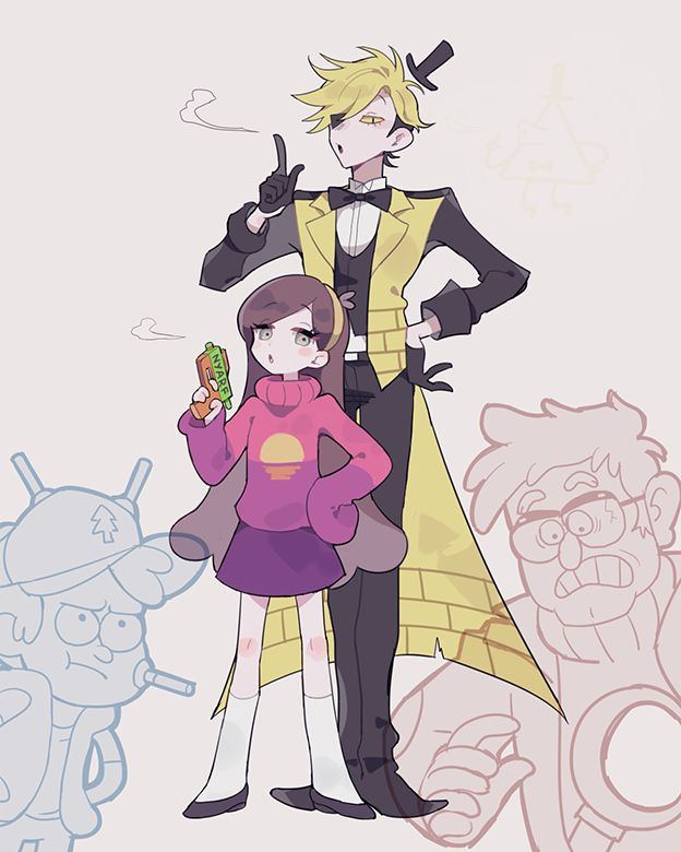 △ Gravity Falls- Bill Cipher and Mabel △ Mabill