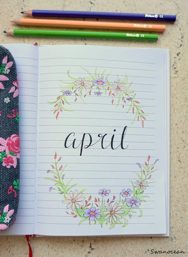 Swanocean: April's bullet journal-Το ημερολόγιο του Απριλίου