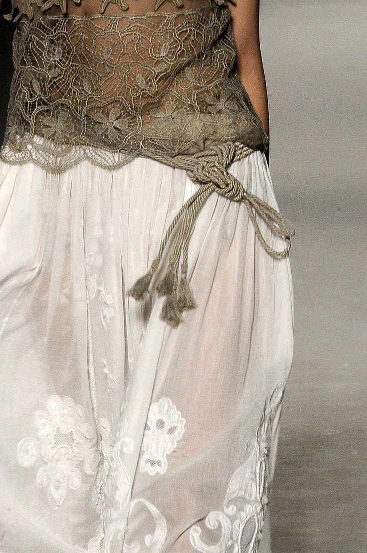 ...: Lace Tops, Fashion Details, Stylefashion, Inspiration, Alberta Ferretti, Long Skirts, Color Mixed, White Lace, Style Fashion