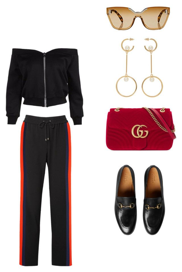 """""""AIRPLANE MODE."""" by jarrahians ❤ liked on Polyvore featuring Kenzo, Prada, Gucci and Chloé"""