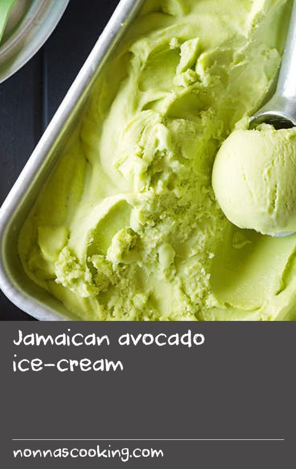 Jamaican avocado ice-cream | In Jamaica, avocados (which are sometimes referred to as alligator pears) are commonly eaten with a hard, sweet bread known as bulla, as well as made into a chilled soup. Perhaps a little more unusually, they are also used to make ice-cream. The creamy, delicate flavour works surprisingly well, especially with the addition of lime juice to cut through the richness.