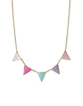 ASOS Pastel Bunting Necklace