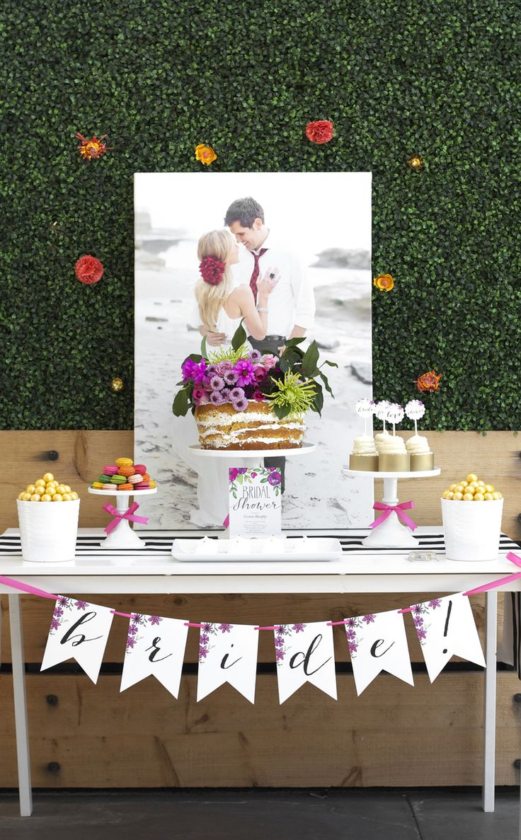 Bridal Shower Ideas with Shutterfly canvas and invitations. || Follow Kristi on Pinterest at http://www.pinterest.com/kristimurphydiy/ for more chic ideas.