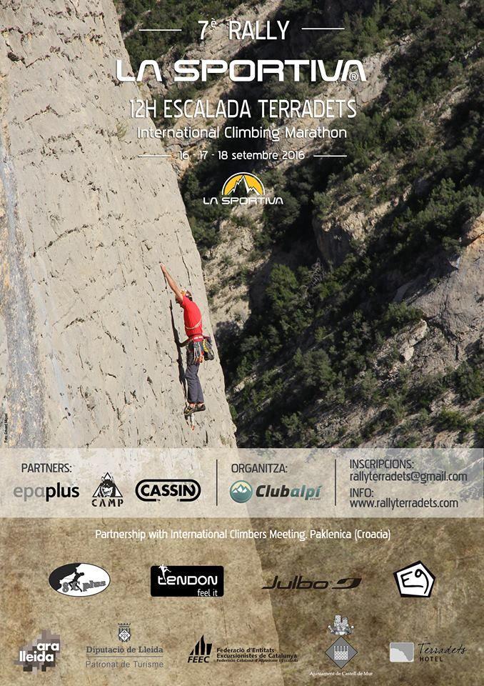 totagenda esports: El ral·li d'escalada de Terradets del 16, 17 i 18 de Setembre -Noguera/Pallars Jussà- obre les inscripcions