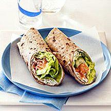 Wrap met gerookte zalm en komkommer Recept | Weight Watchers België