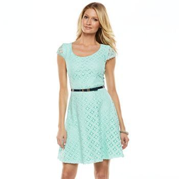 Blue lace dress kohls