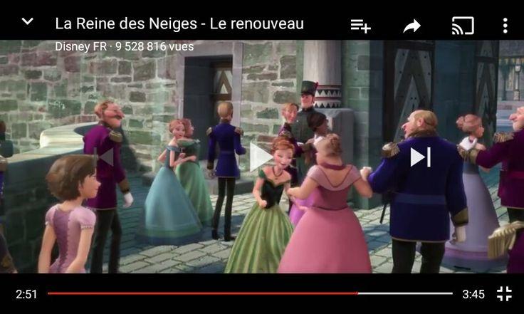 L'avez vous déjà remarquer / regarder en bas à gauche la princesse raiponce ..