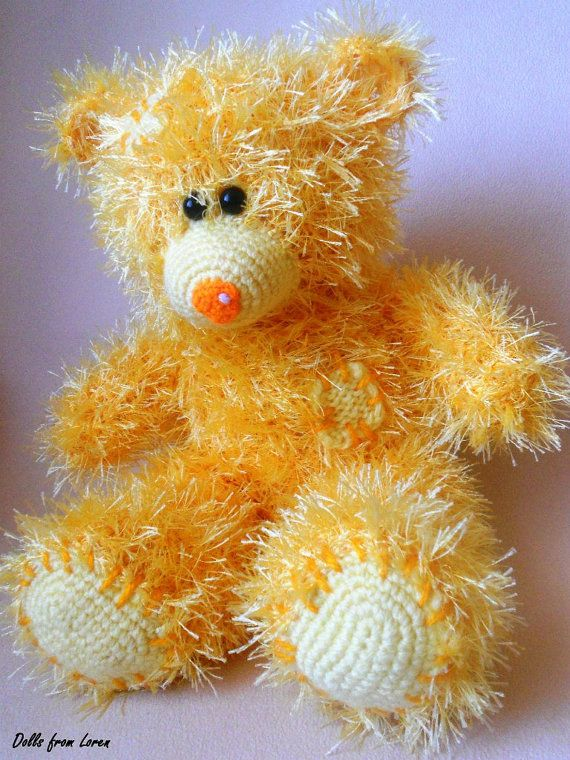 Yellow Hand knitted Teddy Bear  by LorensDolls on Etsy  #Bears  #Handknitted  #TeddyBear  #knitted   #knitting #stuffedbear  #knittedtoys  #beargift  #handknittedtoy  #handmadegift  #birthdaygift  #uniquegift  #LorensDolls