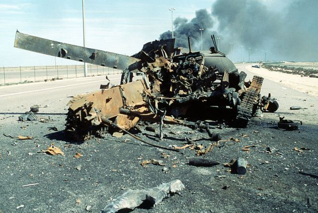 The Highway of Death – a six-lane road connecting Iraq to Kuwait that, over the course of a couple of days in February 1991, became a scene of carnage that has endured as one of the most recognisable symbols of war.