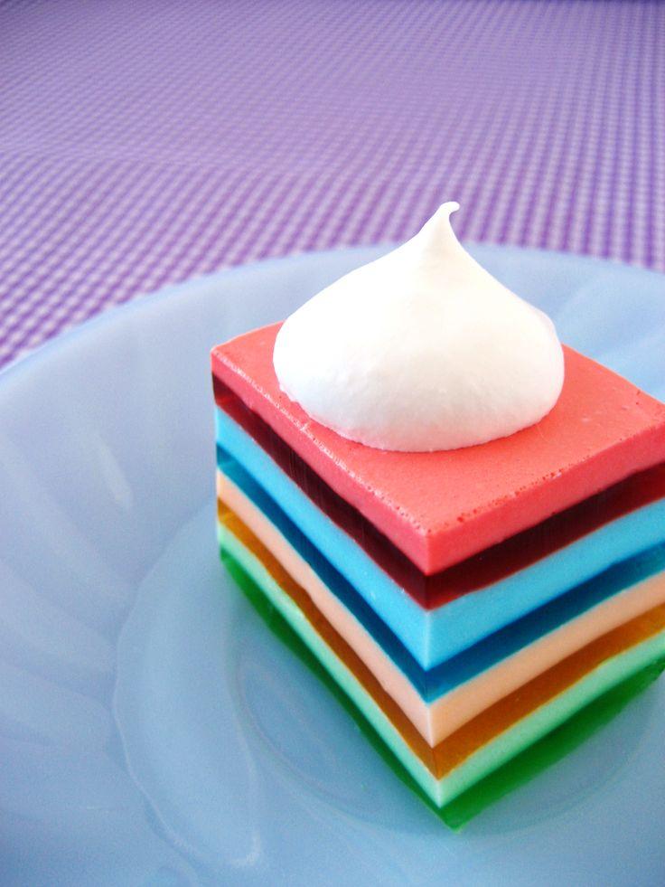 Layered JelloDesserts, Jello Recipe, Low Sugar, Sour Cream, Layered Jello, Cream Cheese, Rainbows Jello, Whipped Cream, Picnics Potlucks