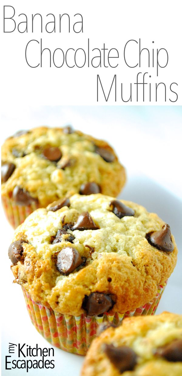 These amazing banana muffins are loaded with chocolate chips and are dense and moist! The best recipe you will find out there
