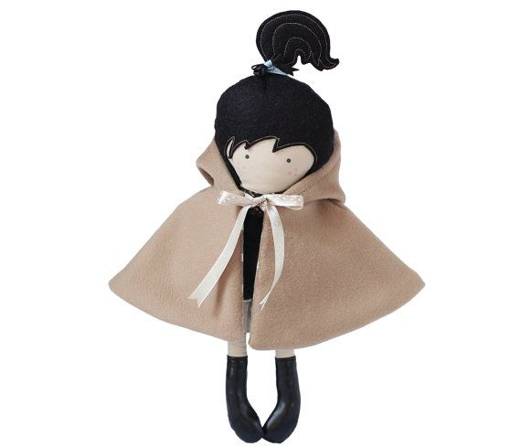 Doll Outfit Hooded Cape Hooded Coat Reversable by RibizliDesign