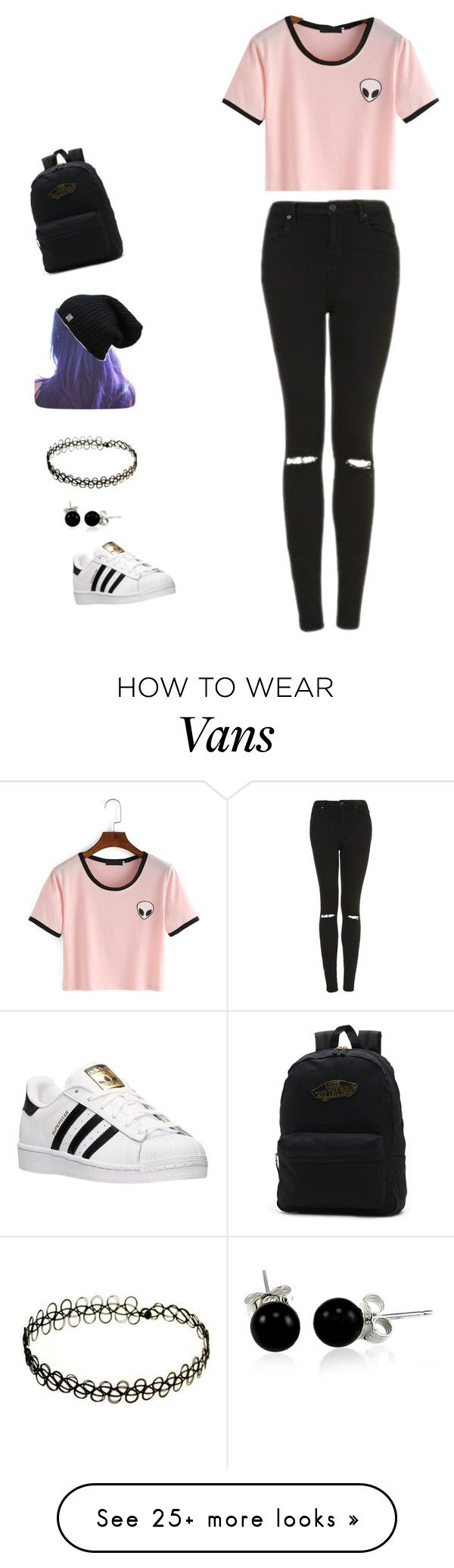 """""""GRuNGE"""" by cassidynh88 on Polyvore featuring Topshop, adidas, Vans and Bling Jewelry"""