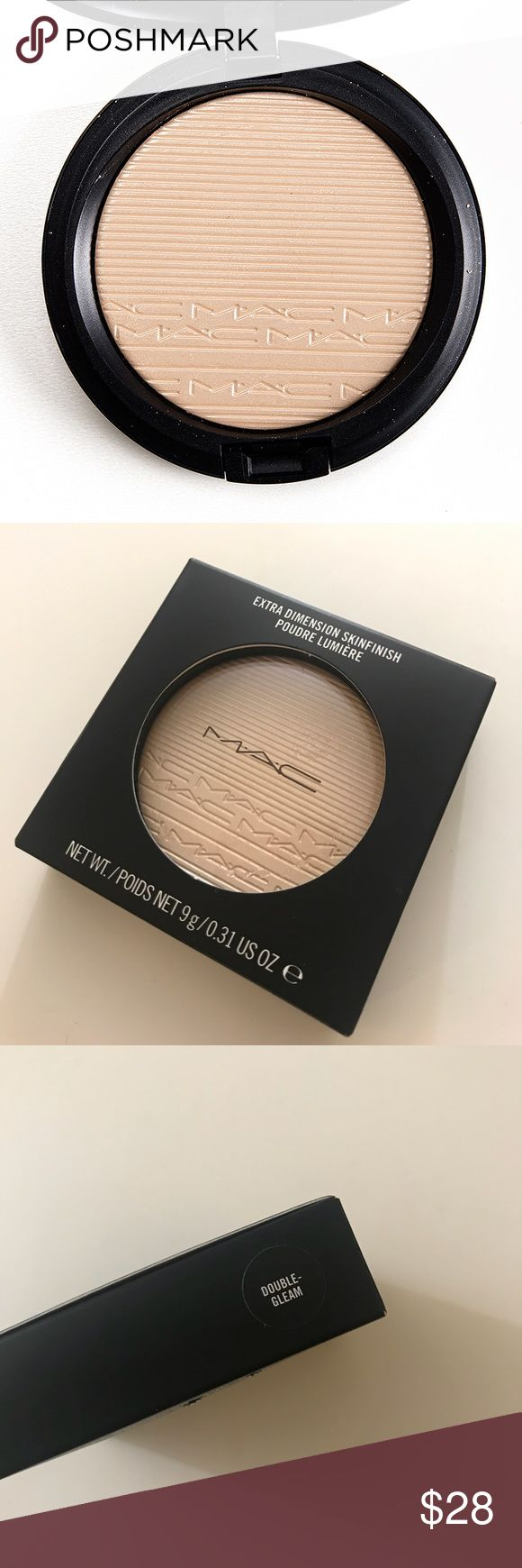 BNIB MAC double gleam extradimension highlighter Brand new in box! Completely authentic 🤗 free shipping on bundles of 3 or more items ✨ MAC Cosmetics Makeup Luminizer