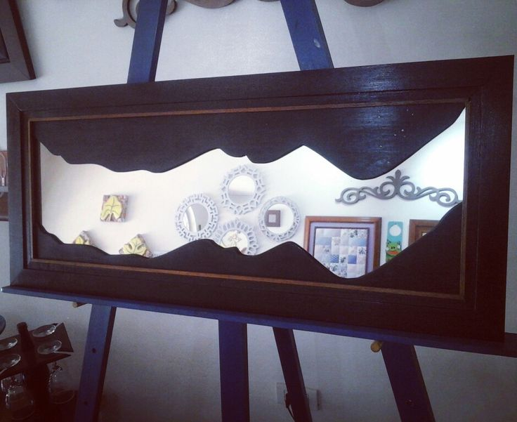 Espejo decorativo en cedro