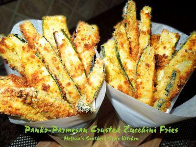 Panko-Parmesan Crusted Zucchini Fries - Melissa's Southern Style Kitchen