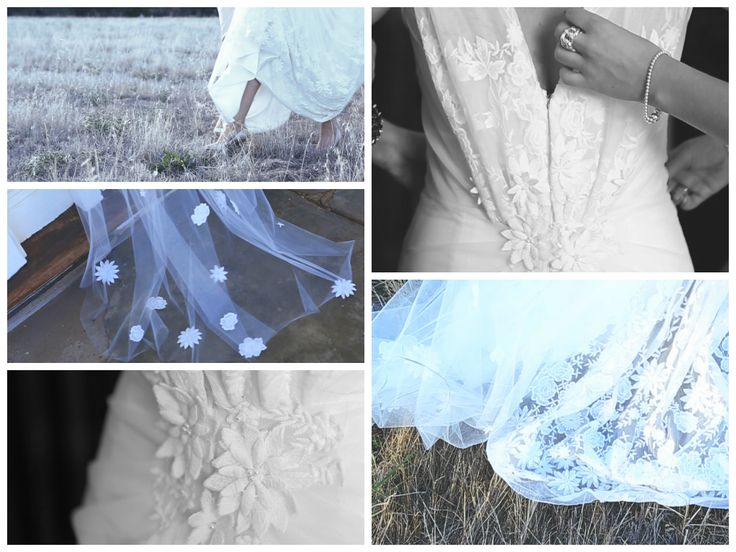 A few snaps of Kate's dress - massive love-fest with her dress!!! flowers on the train are amazing