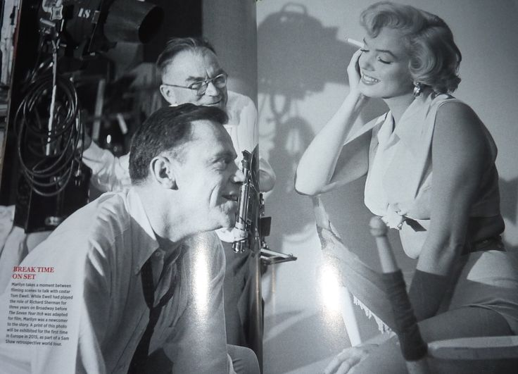 Marilyn, Sam Shaw in 'TV Guide' Special 2014. Marilyn and Tom Ewell on the set of The Seven Year Itch, 1954.