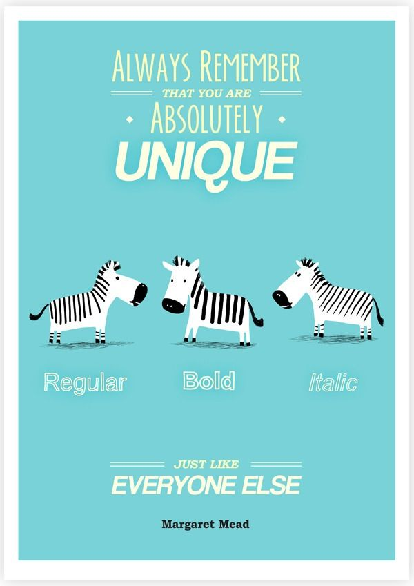 Image of Always Remember That You Are Absolutely Unique, Just Like Everyone Else.