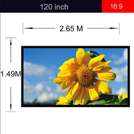 Amazon.com: Excelvan Outdoor Portable Movie Screen 120 Inch 16:9 Home Cinema Projector Screen, PVC Fabric: Home Audio & Theater