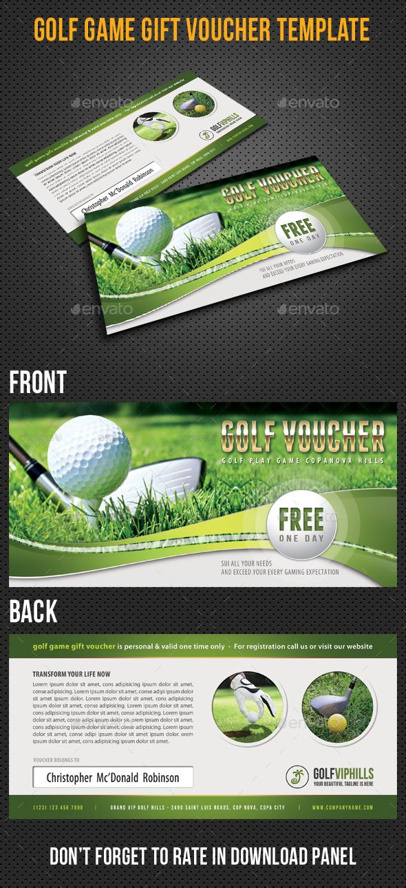Golf Game #Gift #Voucher V03 - #Cards & #Invites Print Templates Download here: https://graphicriver.net/item/golf-game-gift-voucher-v03/9212728?ref=alena994