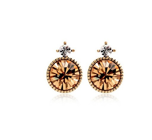 $1.85 Fashionable Korea Simple Rhinestone Earrings Yellow i3430114: Rhinestones Earrings, Simple Rhinestones, Earrings Yellow, Rhinestone Earrings