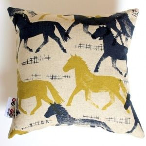 Blue Brumby Cushion Cover
