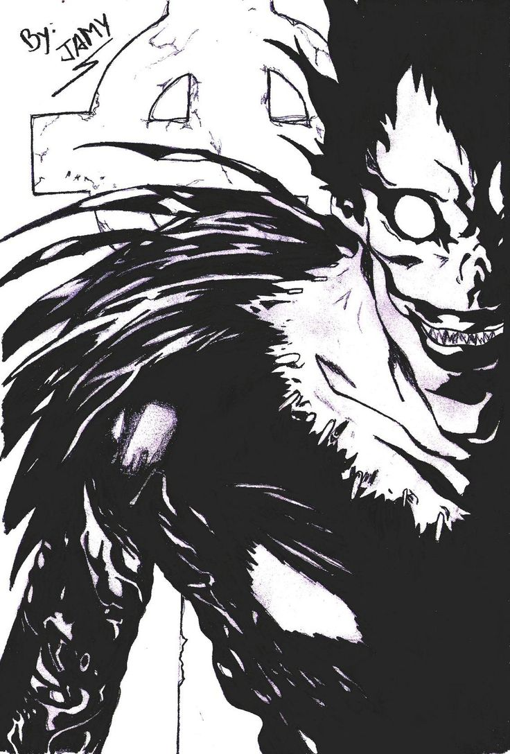 Ryuk Diseño Otaku... Inspirado en Death Note... | Dibujos ...