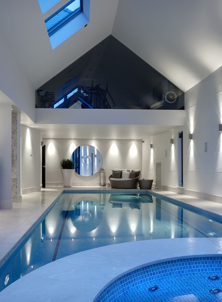 And I will also have an indoor pool with a workout room above!