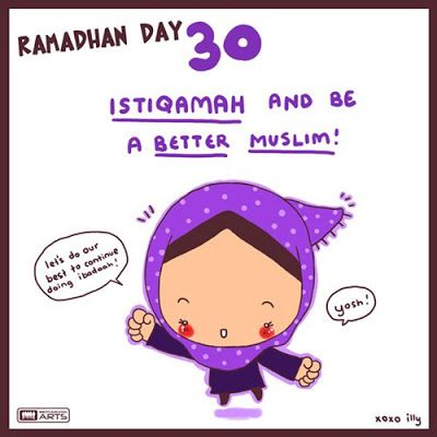 "day 30 ""istiqamah and be a better muslim :)"""