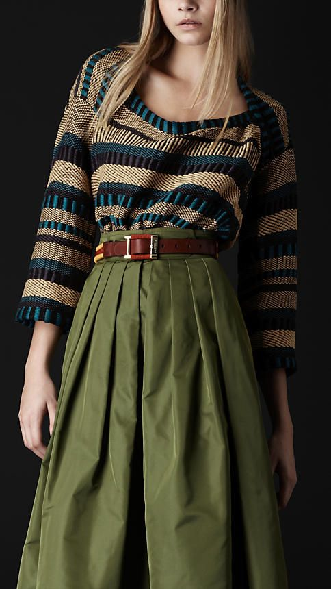 Burberry sweater and the belt.